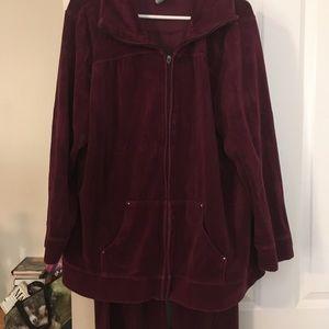 Catherine's Velour jogging suit
